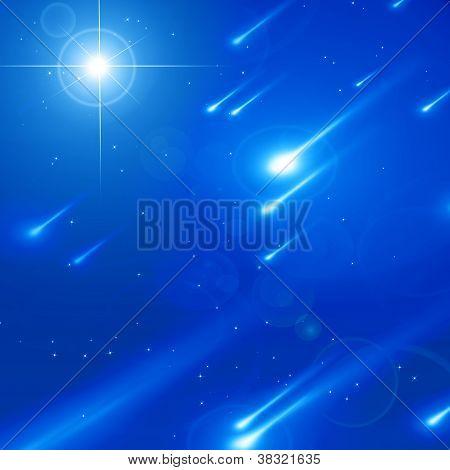 Tranquilo céu repleto de estrelas