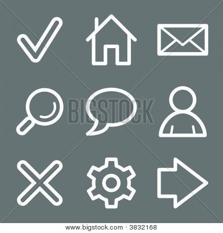 White Basic Web Icons V2