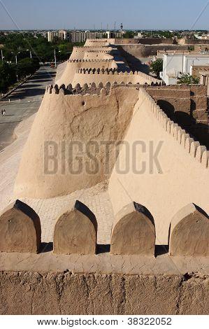 Cidade de parede, Khiva, Silk Road, Uzbequistão