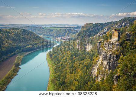 Saxon Switzerland View From Bastei To Wehlen