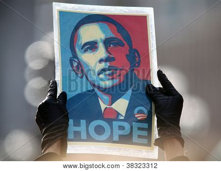 Obama Hope Poster by Sheppard Fairey