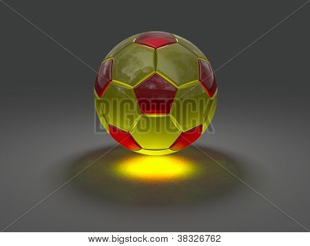 Soccer Ball With Caustic Effect