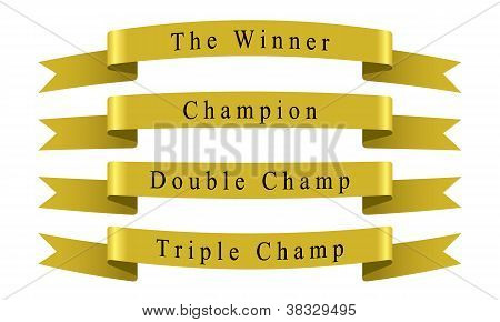 Winner Champion Ribbon set vector