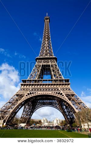 Beautiful View Of The Eiffel Tower In Paris