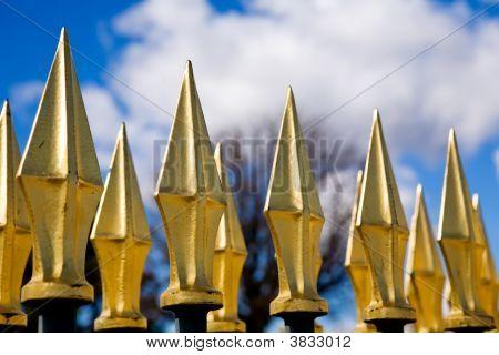 Golden Spiken Fence