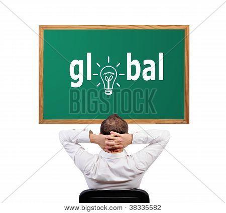 Global auf Schreibtisch