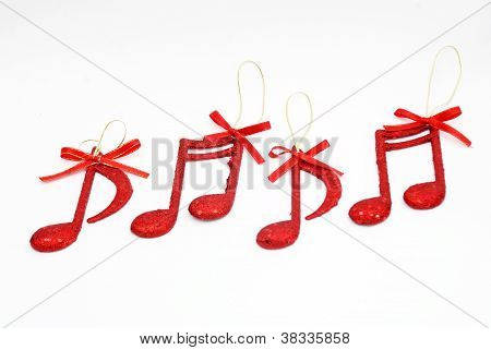 Christmass fundo, notas de música