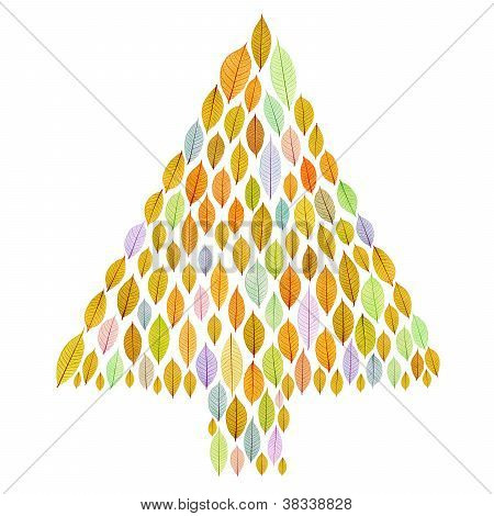 Christmas Tree With Transparent Leaf