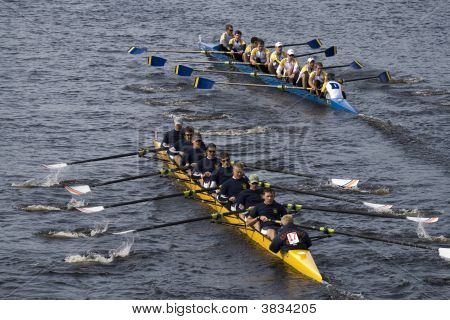 Boston - October 19: In The Head Of The Charles Reggata, On October 19Th 2008, Coast Guard Academy (