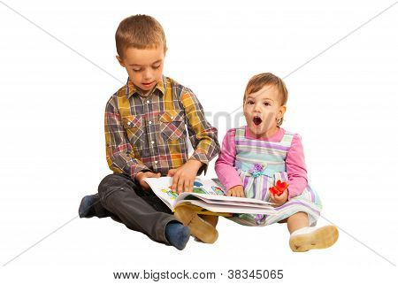 Amazed Toddler Girl By A Story