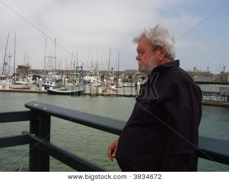 Senior In San Francisco Harbor