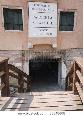 Jewish Quarter In Venice