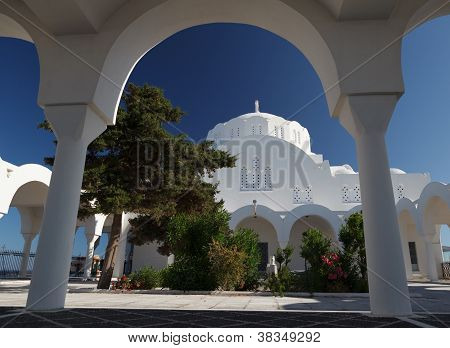 Greek Church On Santorini