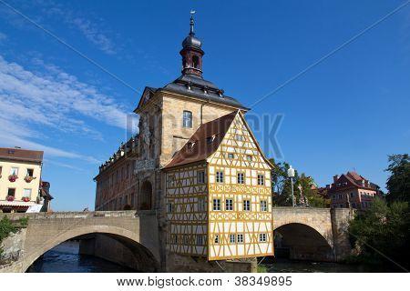 Bridge Town Hall In Bamberg, Bavaria