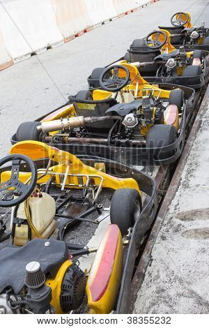 Perspective Row Of Go-kart