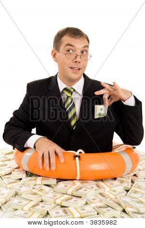 Man Inside Money