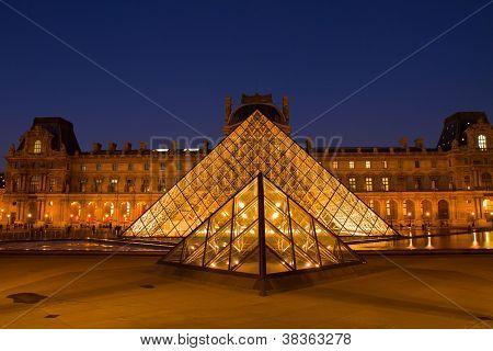 The Louvre Art Museum  in Paris