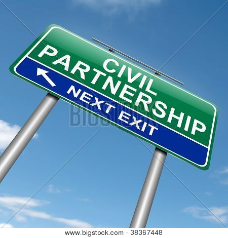 Civil Partnership Concept.