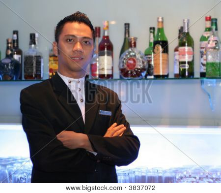 Bartender At Work