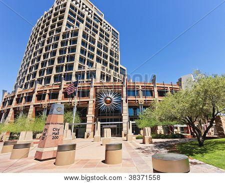Um tiro de prefeitura da cidade de Phoenix