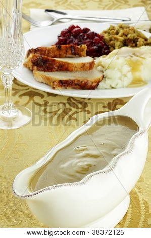 Gravy Boat And Dinner
