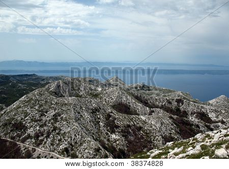Mountain Tops In Horvatii