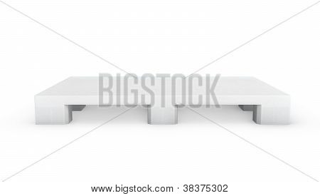 White Plastic Pallet, Side View