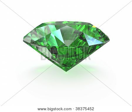 Green Round Cut Emerald