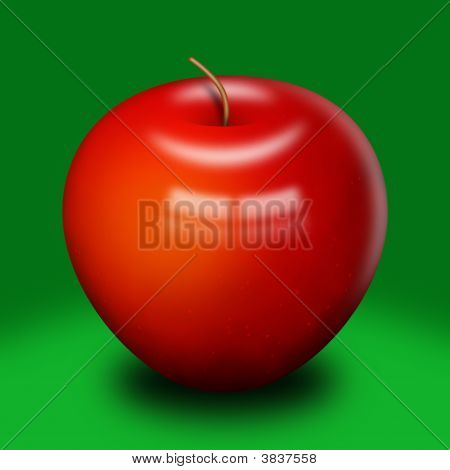 Shinny Red Apple