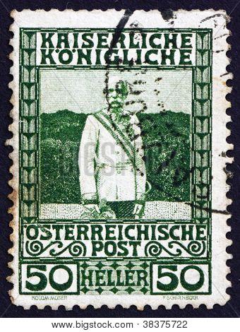 Postage stamp Austria 1908 Franz Josef, Emperor of Austria