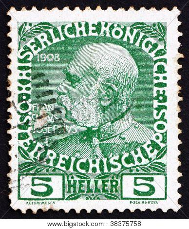 Postage stamp Austria 1913 Franz Josef, Emperor of Austria