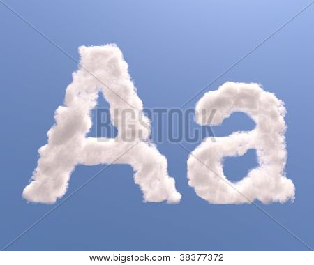 Letter A Cloud Shape