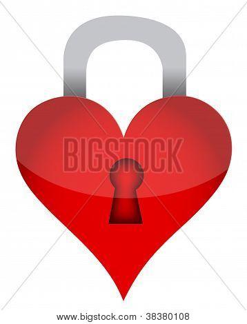 Heart Lock Illustration