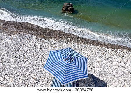 Scenic beach at Crete island in Greece