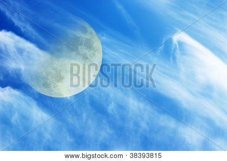 The Moon And Clouds In The Sky1