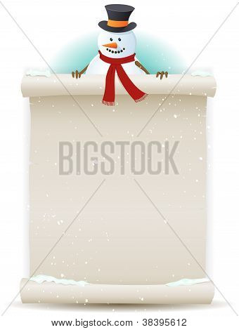 Santa Snowman Background