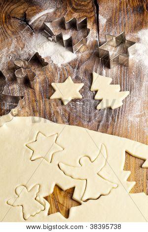 Formas de galletas de azúcar de Navidad