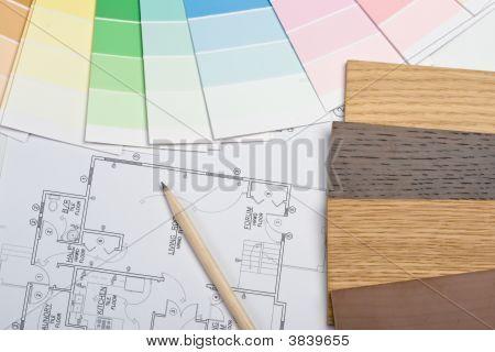 Guía de color, muestras de Material y Blueprint