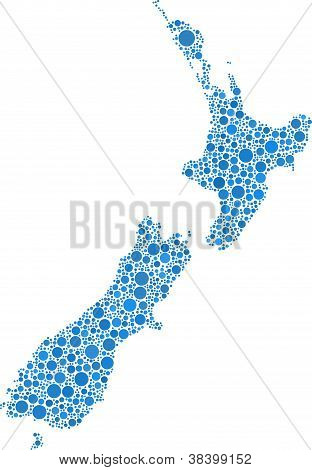 Map of New Zeland