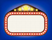 stock photo of matinee  - A blank movie theatre or theatre marquee - JPG