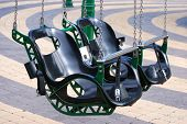 picture of swinger  - A double seat from a flying swing - JPG