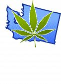 image of doritos  - Marijuana leaf super imposed over a United State - JPG