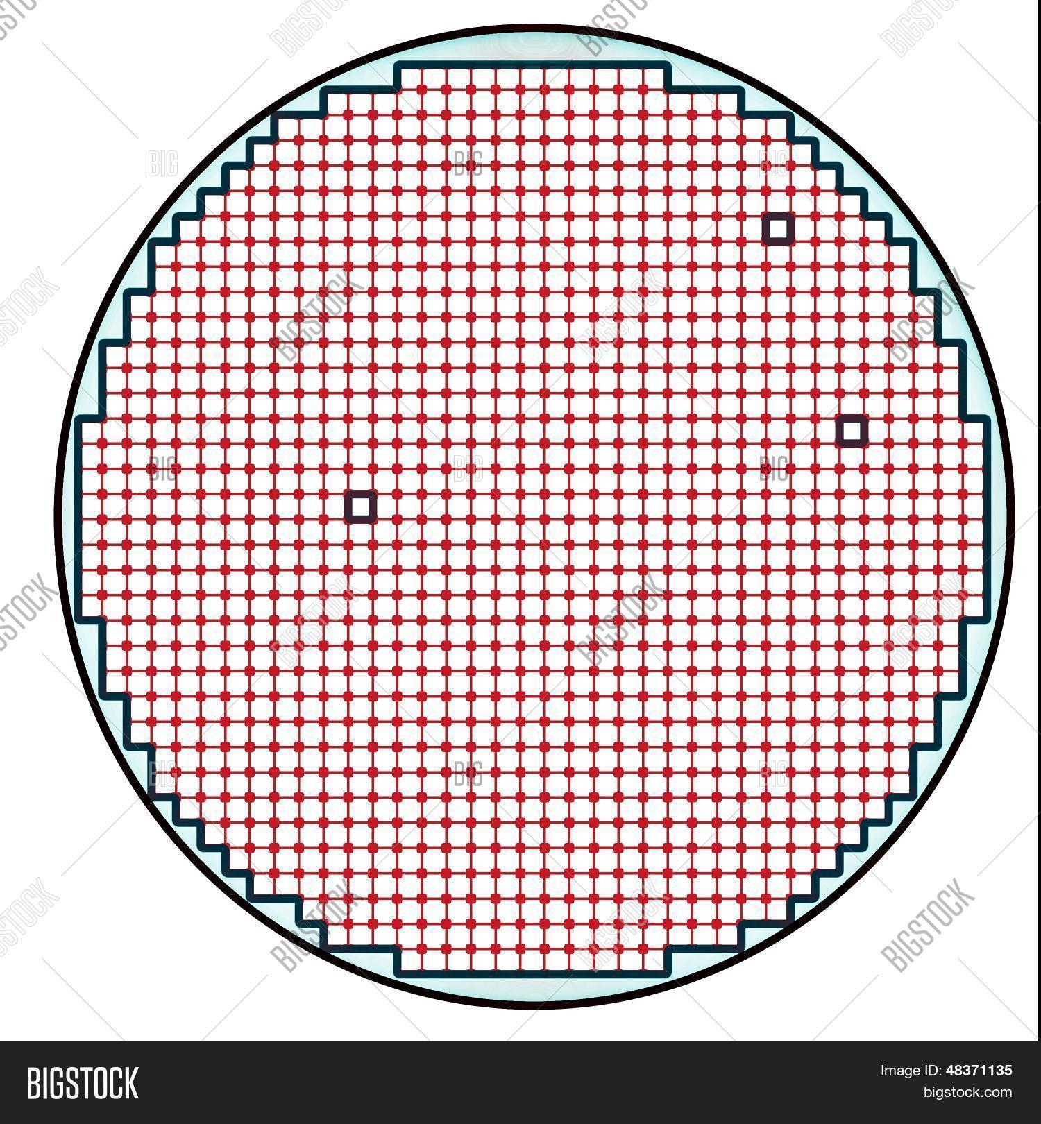 Stock Semiconductor Testing : Semiconductor wafer map test result stock photo