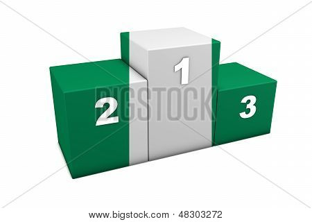 Nigeria Flag Podium