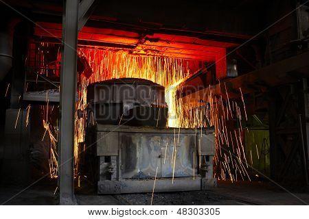 Molten Hot Steel