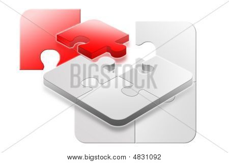 Red Success 3D Jigsaw Puzzle