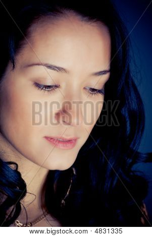 Close-up Portrait Of Beautiful Woman