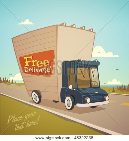 Delivery truck. Shipping concept.