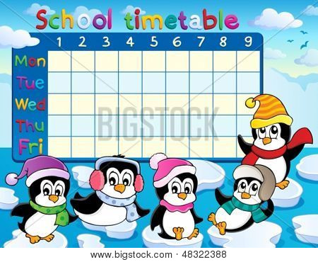 School timetable theme image 9 - eps10 vector illustration.