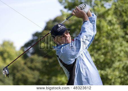 LOCH LOMOND, SCOTLAND - JUL 10 2009; Loch Lomond Scotland; Sandy Lyle (GBR) competing in the second round of the PGA European Tour Barclays Scottish Open golf tournament.